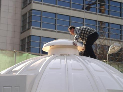 Технология сборки купольного дома